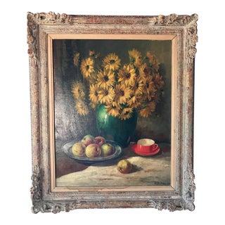 Original Oil Painting by Belgian Artist Dutoit For Sale