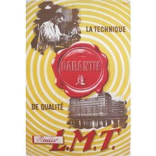 Original French Art Deco Radio Poster, La Technique Guarantie