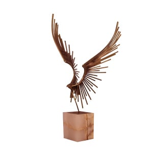 Curtis Jere Bird in Flight Table Sculpture For Sale