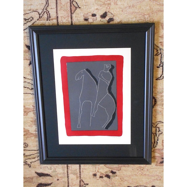Vintage Ltd. Ed. Marino Marini Silkscreen-Abstract Equine-1959-Folio Size-Framed For Sale - Image 9 of 9