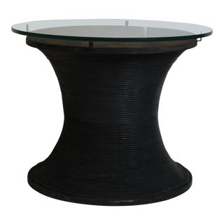 20th Century Industrial Metal Drum Table For Sale