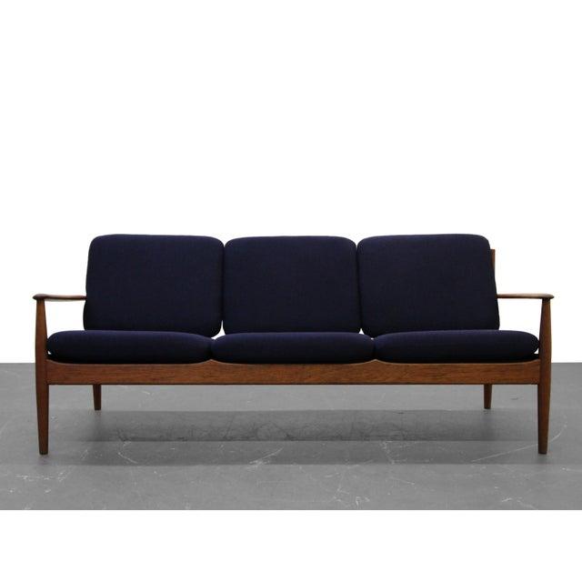 Danish Modern Solid Danish Teak Slat-Back Sofa by Grete Jalk for France & Son For Sale - Image 3 of 9