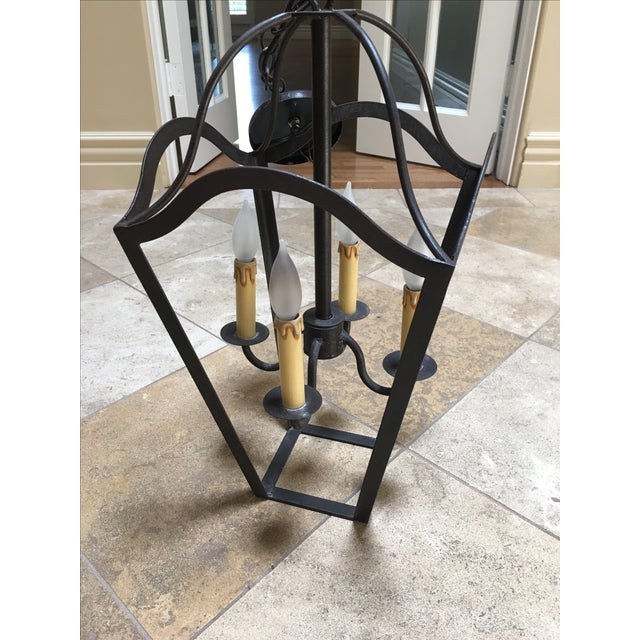 Custom Designed Wrought Iron Chandeliers - A Pair - Image 4 of 7