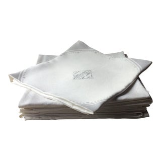 1900s French Linen Napkins - Set of 10 For Sale