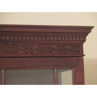 Stickley 4 Door Flame Mahogany Front Breakfront China Cabinet Preview