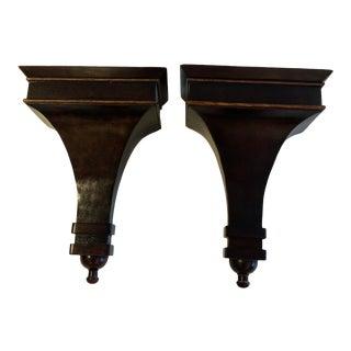 Mahogany Regency Style Wall Brackets -A Pair For Sale