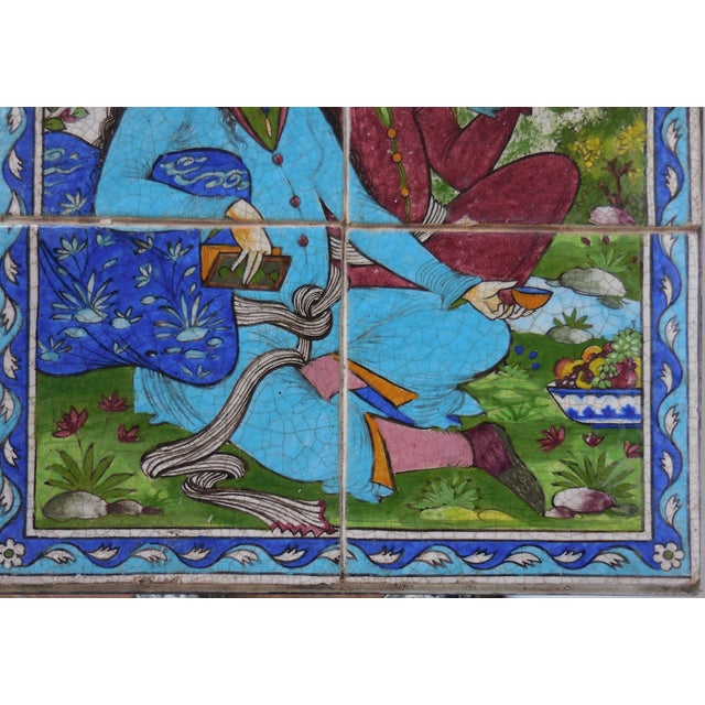 Vintage Persian Tile Coffee Table - Image 6 of 11