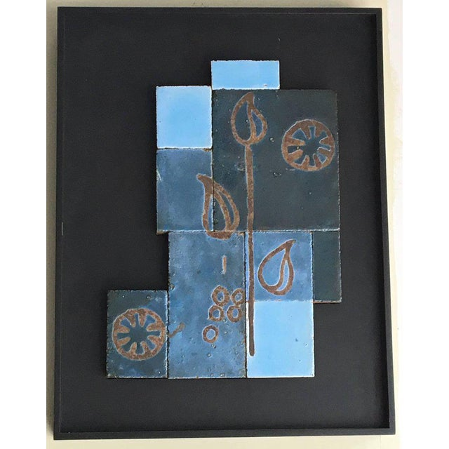 1950s Set of Three Glazed Tile Assemblages from the South of France For Sale - Image 5 of 6
