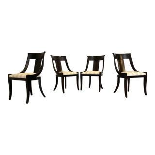 Baker Furniture Regency Style Palladian Side Chairs, Set of 4 For Sale
