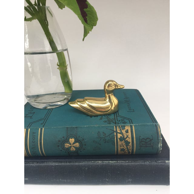 Vintage Solid Brass Duck For Sale - Image 4 of 5