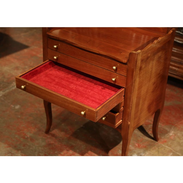 Red Louis XV Walnut Chest With Stamped Christofle Silver Plated Flatware 181 Pieces For Sale - Image 8 of 13