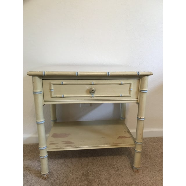 1960s 1960s Regency Thomasville Faux Bamboo Nightstand For Sale - Image 5 of 5