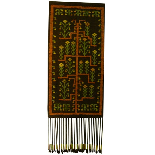 Mid-Century Woven Wool Tapestry - Image 1 of 6