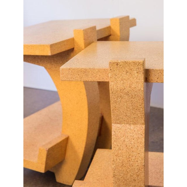 Kevin Walz Cork Side Tables - a pair For Sale In New York - Image 6 of 11