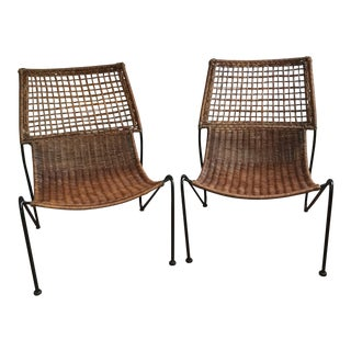 Mid-Century Albini Chairs- a Pair For Sale