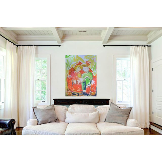 """""""Bedtime Story"""" is a large abstract figurative painting from top selling Chairish artist Trixie Pitts. Painted with..."""