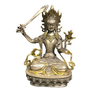 Bronze Chinese Quanyin Sculpture For Sale