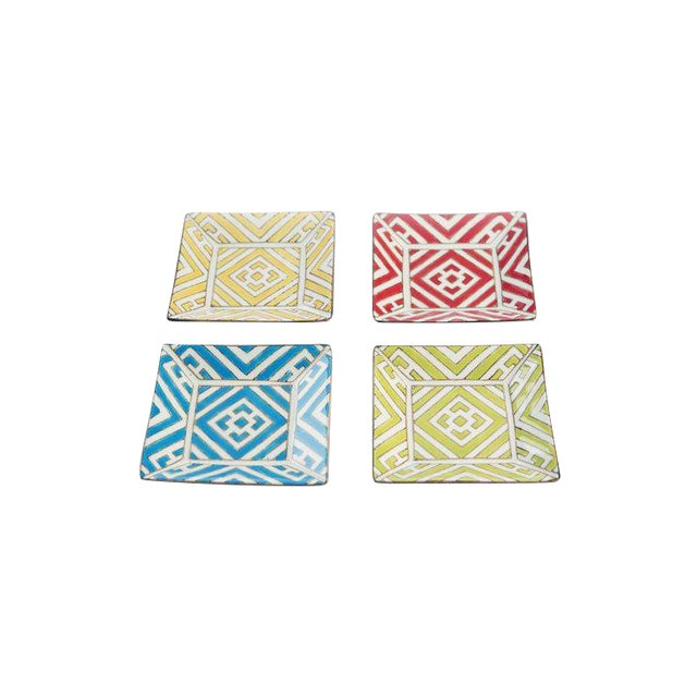 Hand painted Moroccan Tapas Plates - Set of 8 For Sale