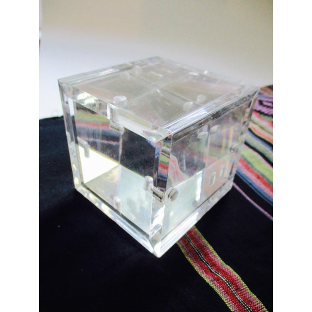Lucite Cube Paperweight Picture Frame - Image 4 of 9