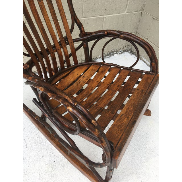 Vintage Bent Wood Rocking Chair For Sale - Image 4 of 5