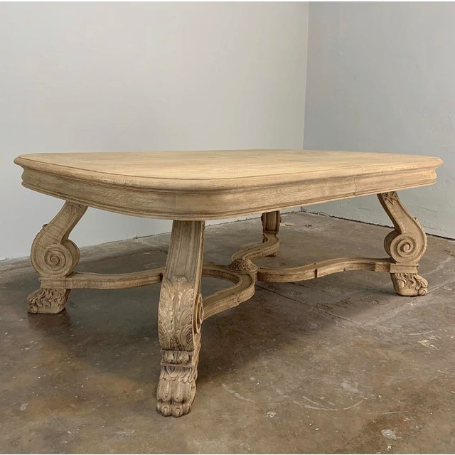 Antique Louis XIV Stripped Parquet Coffee Table is an unusual design inspired by the Louis XIV style, and features a...