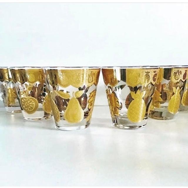Mid-Century Modern Culver Florentine Fruit Punch Bowl & Glasses - 7 Piece Set For Sale - Image 3 of 4