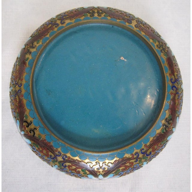 Vintage Chinese Cloisonné Bowl - Image 5 of 5