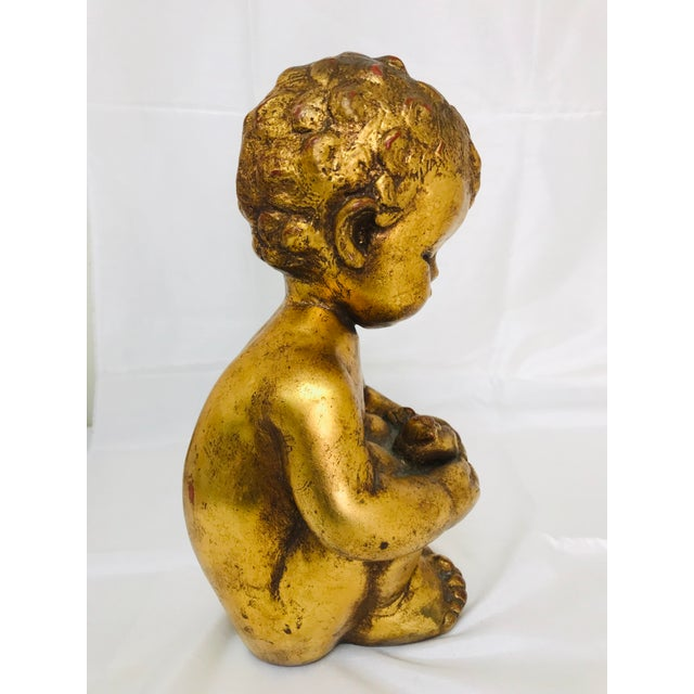 1960s 1960s Vintage Venetian Style Chalkware Child Figurine For Sale - Image 5 of 10