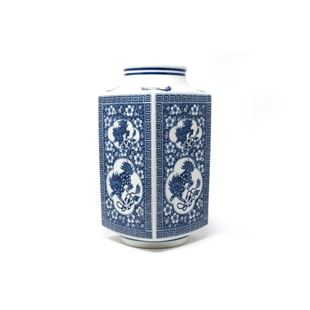Japanese Large Blue and White Planter Vessel For Sale - Image 11 of 11