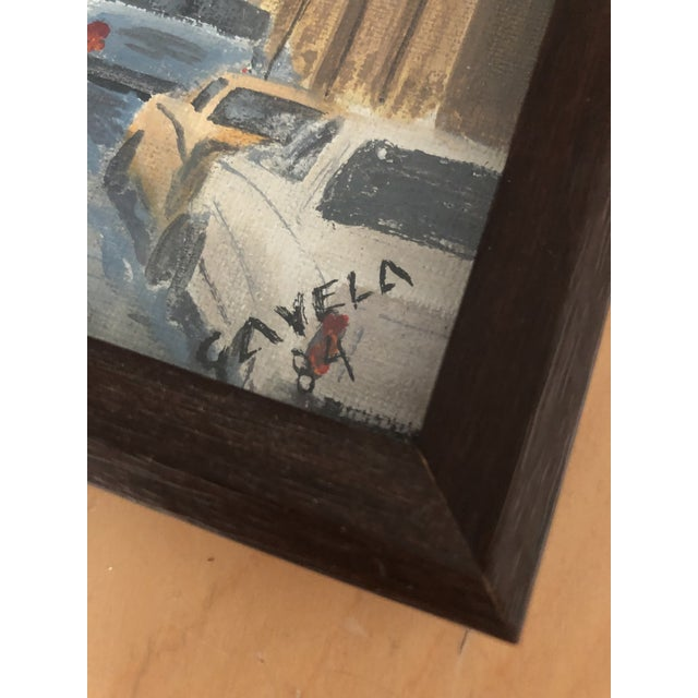 Italian Cityscape Painting, Signed 1984 For Sale In New York - Image 6 of 7