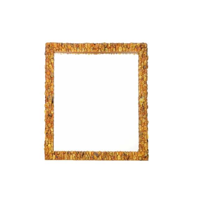 Kam Tin - Amber Mirror With Amber Cabochons, France, 2016 For Sale