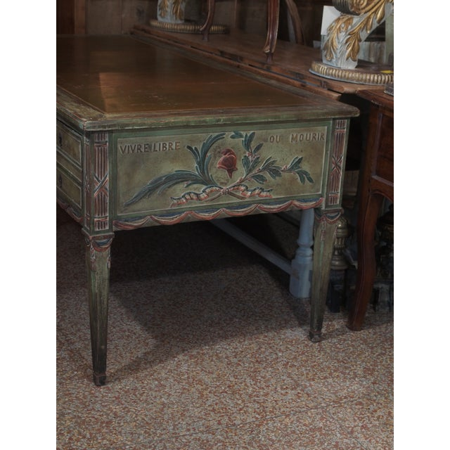"""French Revolution"" Polychrome Desk For Sale - Image 4 of 9"