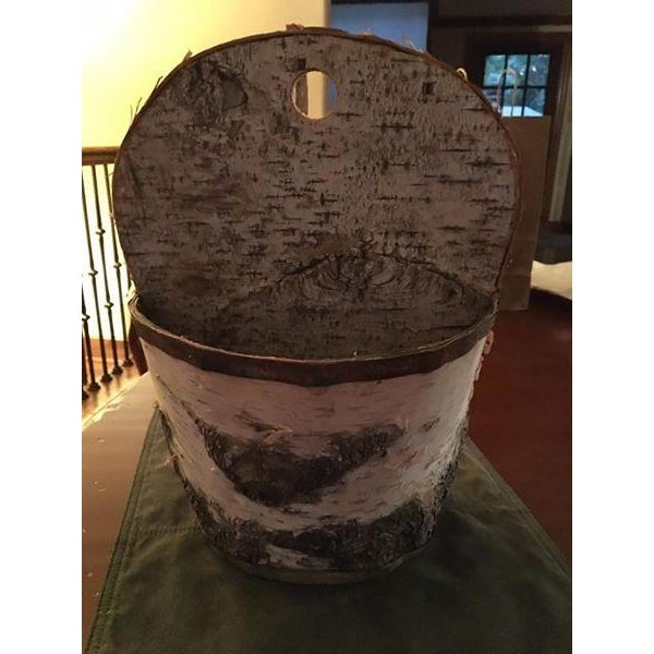 Birch Bark Basket Made in Minnesota - Image 2 of 4