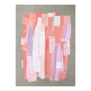 Spontaneity, Acrylic Pink Abstract Painting by Shannon Coppage For Sale
