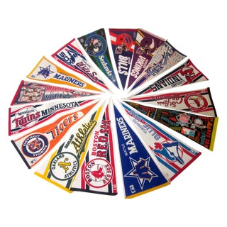 Collection of Baseball Pennants