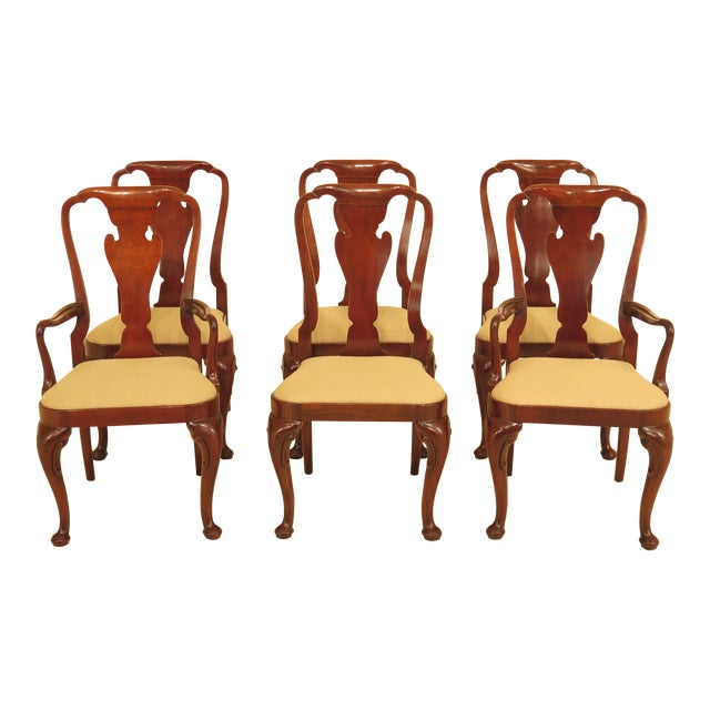 Baker Queen Anne Mahogany Dining Room Chairs