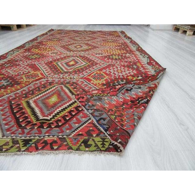 Vintage Turkish Kilim Rug - 5′10″ × 11′4″ For Sale In Los Angeles - Image 6 of 6