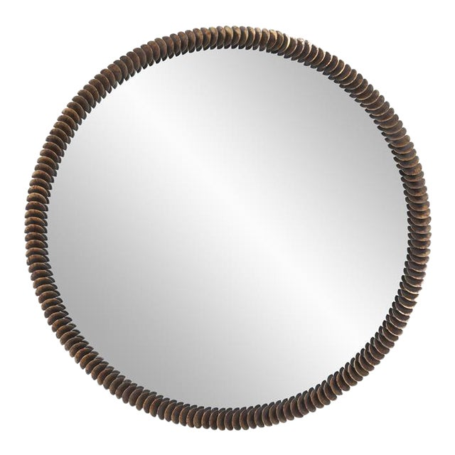 Kenneth Ludwig Coined Copper Mirror For Sale