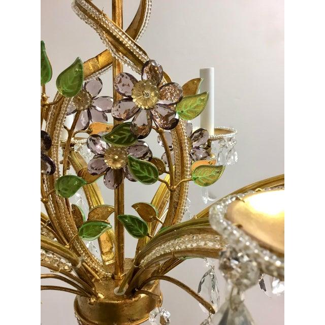 Myran Allen Luxury Lighting Traditional Italian Iron and Crystal Chandelier For Sale In Atlanta - Image 6 of 7
