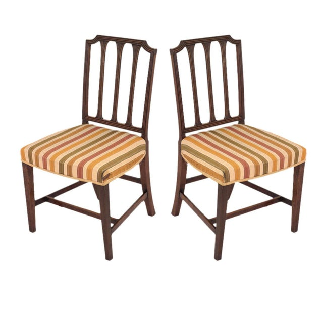 Sheraton Style Mahogany Chairs - A Pair For Sale - Image 5 of 5