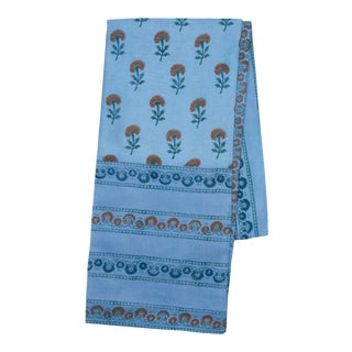 Marigold Tablecloth, 6-seat table - Blue & Orange For Sale