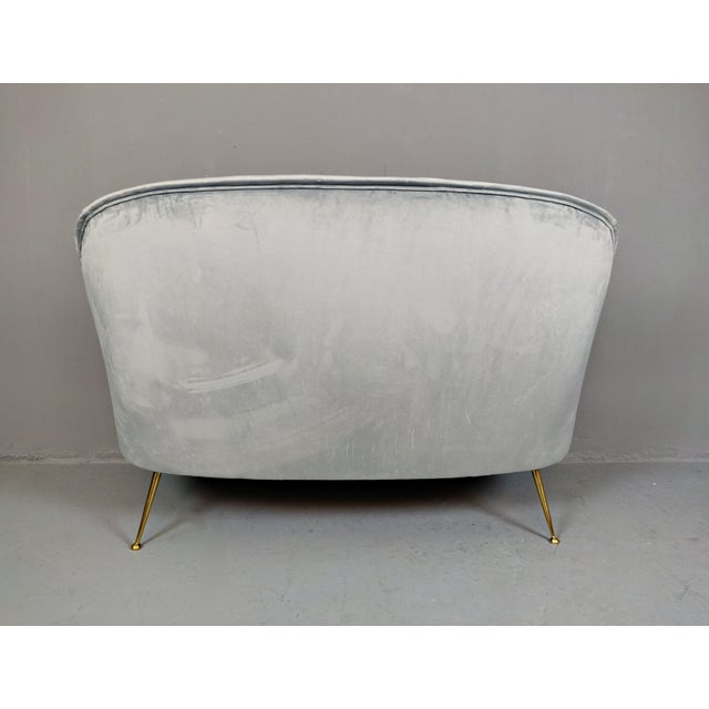 Gray Italian Mid-Century Upholstered Sofa For Sale - Image 8 of 10