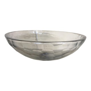 Early 21st Century Italian Cristal Transparent Scratch Cut Sink For Sale