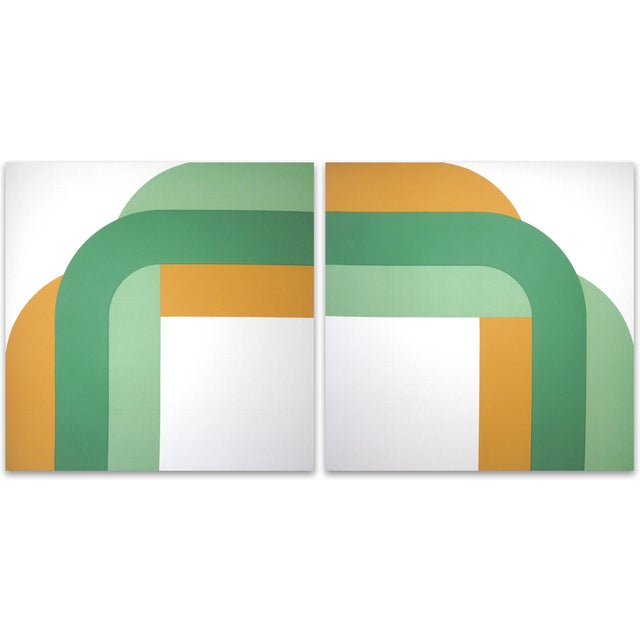 1973 Right Angle Supergraphic Green Print Set - Image 1 of 2