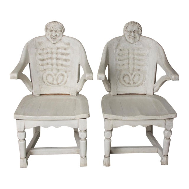 Late 19th Century Antique Anatomical Chairs- A Pair For Sale