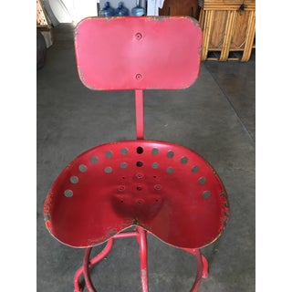 Rustic Industrial Steel and Iron Tractor Work Stool Preview