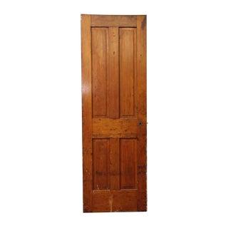 Antique Single Four Panel Wood Farm House Door