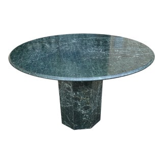 1950s Italian Green Marble Table For Sale