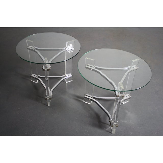 Charles Hollis Jones Lucite End Tables - Pair For Sale - Image 5 of 8