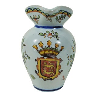 Circa 1900 French Desvres Pitcher For Sale